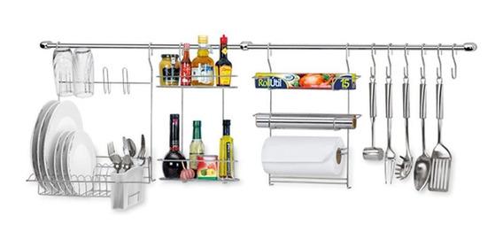 Kit Cozinha Suspensa Arthi 12 Peças Cook Home 10 Escorredor