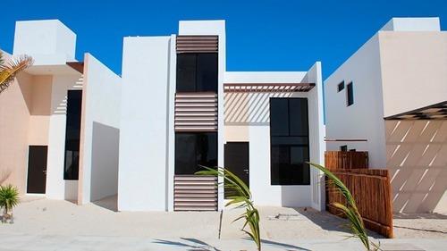 Casa En La Playa Con Casa Club A Veinte Minutos De Merida