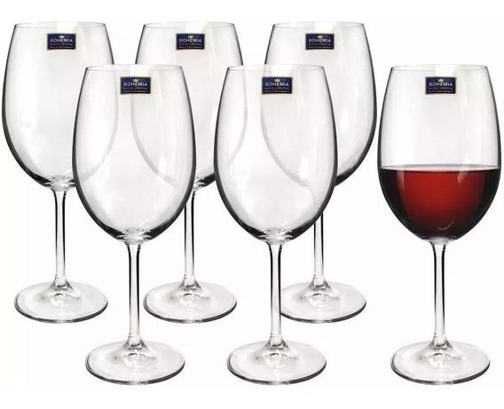Jogo Com 6 Taças Cristal Vinho Tinto 580 Ml Bohemia Gastro