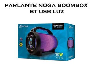 Parlante Noga Boombox Bt Usb Luz Led