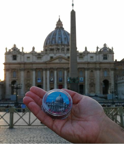 Rosario Italiano Del Vaticano Con Imagen Del Papa Benedicto