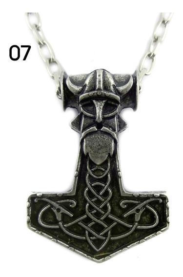 Corrente Colar Martelo Mjolnir Viking Thor
