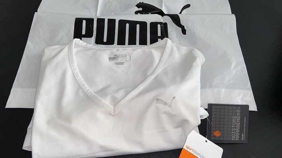 Remera Puma Blanca Mangas Corta Talle L