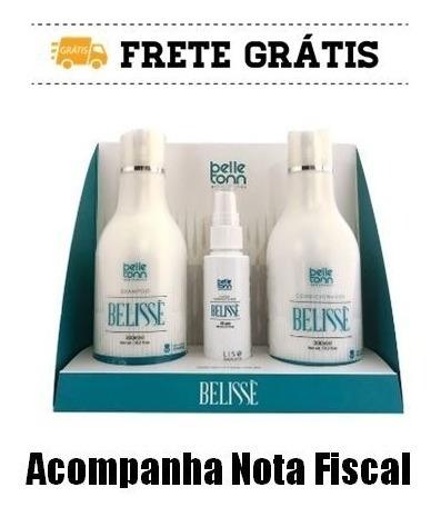 Belissè Kit Alisamento Gift Box Sh+cond(300ml)+fluido 65g