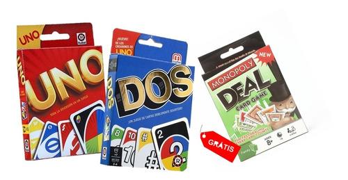 Cartas Uno + Cartas Dos Gratis Monopoly Cards Oferta