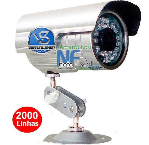 Câmera 36 Leds Cftv Ccd Infravermelho 2000 Linhas Ahd