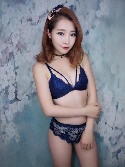 Bralett Tanga Encaje Sexy Coordinado Lenceria Coreana
