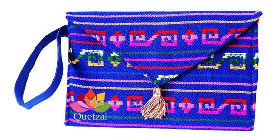 Bolsa Clutch Rebozo Con Asa Mexicana Artesanal