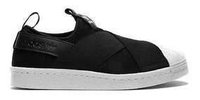 Tênis adidas Superstar Slip On Feminino Bordado Original