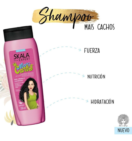 Shampoo Brasilero Skala Expert Mais Cachos. Liberado. Rulos