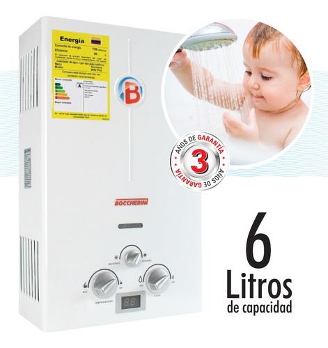 Calentador Paso A Gas 6 Litros Garantía 3 Años Boccherini