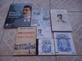 Ernesto Nazareth - Lote C/ 3 Livros + 1 Livreto + 2 Cds