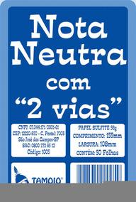 Impresso Talao Nota Neutra 1/32 25x02fls.2via Tamoio C/20