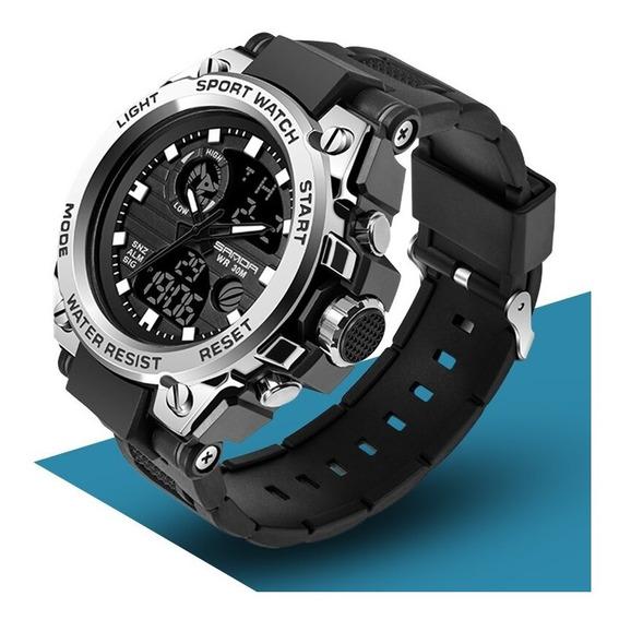Relógio Masculino Digital Preto Grande Resistente À Água