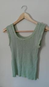 Blusa Regata Feminina Verde De Linha