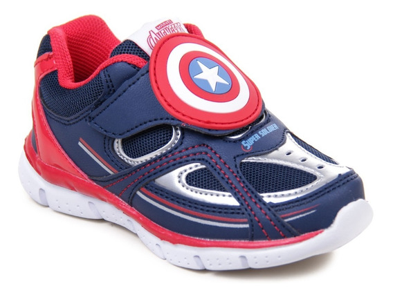 Zapatillas Marvel Avengers Capitan America Niños Abrojo Nene