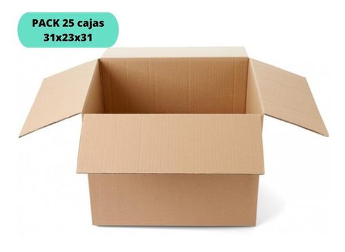 Imagen 1 de 2 de Cajas De Cartón 31x23x31 / Pack 25 Cajas / Cart Paper
