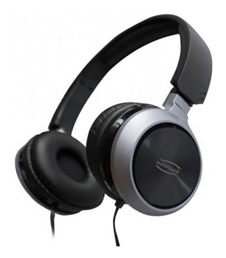 Headphone Headset Premium P2 4 Vias Preto/cinza Hs115