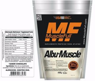 Albumina (450g) 80% De Concentração - Muscle Full - Sabor In