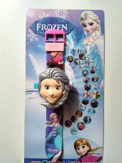 Relógio Infantil Frozen Elsa Projeta 24 Imagens Black Friday