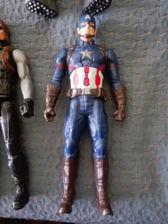 Capitan America Hasbro Titan Hero 30cm Con Sonido Sin Escudo