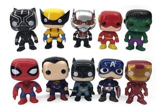 Muñeco Articulado Tipo Funko Pop Avengers Iron Man Hulk Spid