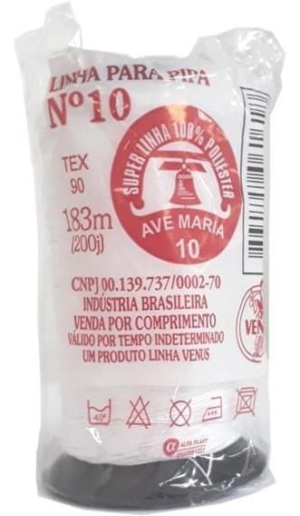 Linha 10 De Pipa 200j 183m 100% Poliester Pacote Com 10un