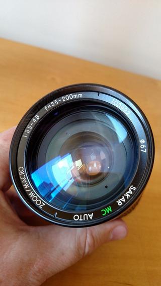 Lente 35-200 3.5-4.8 Sakar Impecável Sony Nikon Canon Lumix