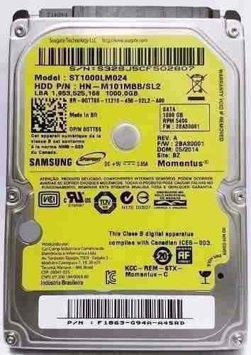 Hd Sata Notebook 1 Tera 1000gb Acer Dell Hp Positivo Samsung