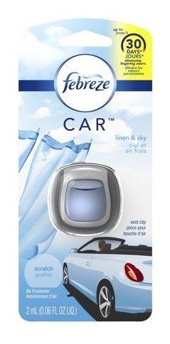 Febreze Car Desodorante Para Auto Linen Y Sky X 2 Ml