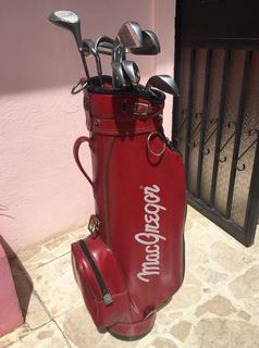 Palos De Golf Macgregor Con Su Maletin De Cuero Golf Clubs