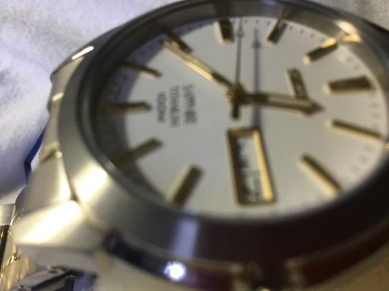 Relógio Seiko, Novinho, Titânio, Safira De Cristal, +-36mm