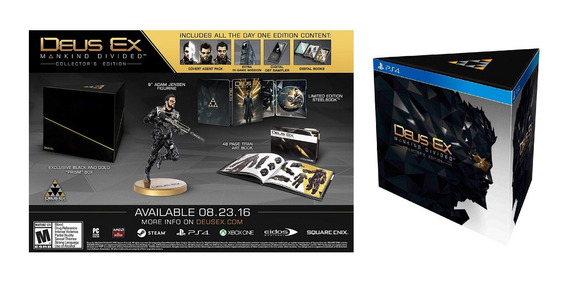 Deus Ex Mankind Divided Collectors Edition Playstation 4 Ps4