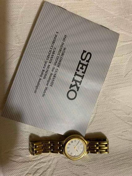 Relógio Seiko Feminino Dourado Anos 90 Com Avarias