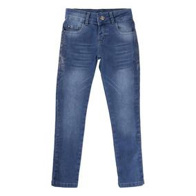Calça Jeans Menina Com Glitter Lateral 919078