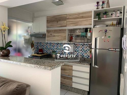 Apartamento Com 2 Dormitórios À Venda, 53 M² Por R$ 360.000,00 - Vila Pires - Santo André/sp - Ap16602