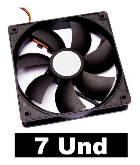 7 Fan Cooler 120x120x25 Micro Ventilador 12v 120mm
