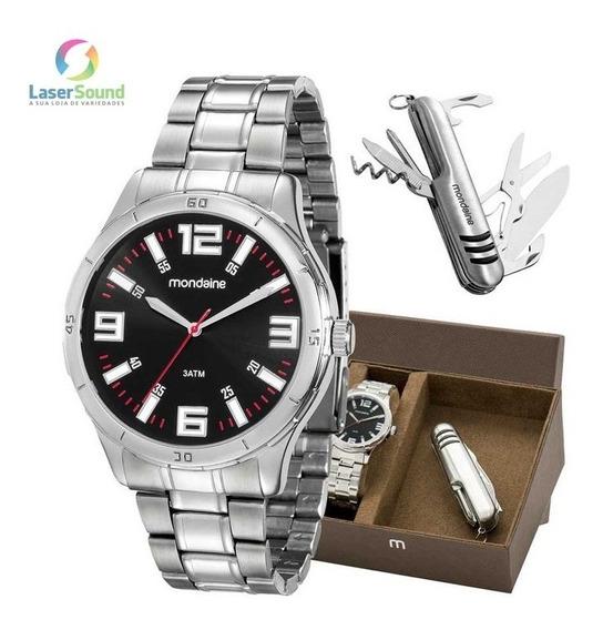 Relógio Mondaine Kit Masc. 99059g0mvne1, C/ Garantia E Nf