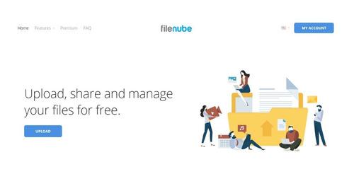 Alojamiento  Archivos Filenube Ilimitado Por Un Año Dropbox
