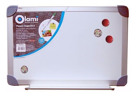 Pizarra Magnetica Blanca Olami 120x90cm Marco De Aluminio