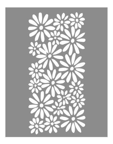 Las Lupes - Stencil Margaritas - 18 X 24cm