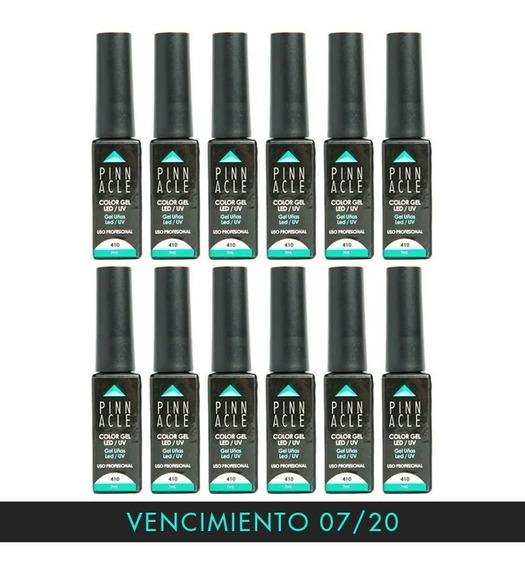 Set De 12 Esmaltes Semipermanente Pinnacle Uña Manicuria Gel