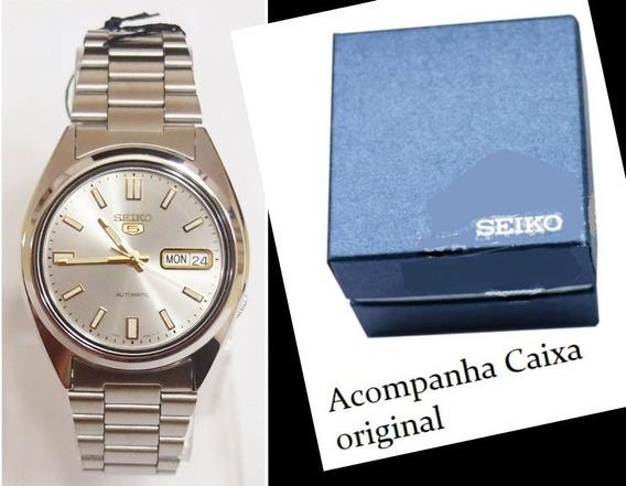 Relógio Automático Seiko 5 30m Snxs75k1 Com Caixa Original