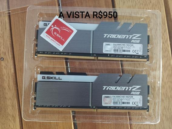 Memoria 16gb Ddr4 3200mhz Tridentz Rgb Samsung B-die Cl14