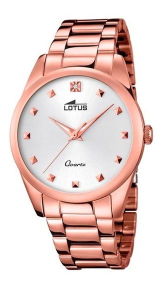 Reloj Lotus Trendy 18144/1 Oro Rosado Para Dama