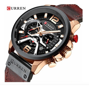 Relógio Masculino Curren 8329 Luxo Couro Social Esportivo