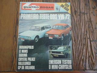 Revista Quatro Rodas Jul 1971 - Teste Variant Tl 72