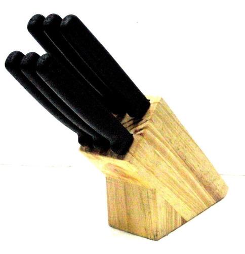 Cuchillos Para Parrilla  Sierra, Con Base,  6 Piezas.