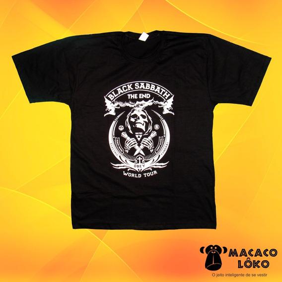 Camiseta Masculina Black Sabbath The End Tour 100% Algodão