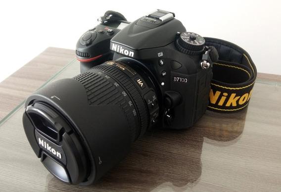 Câmera Nikon D7100 + Lente Af-s Dx Nikkor 18-105mm Vr - Kit
